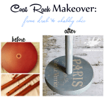 Coat Rack Makeover: From Drab To Shabby Chic