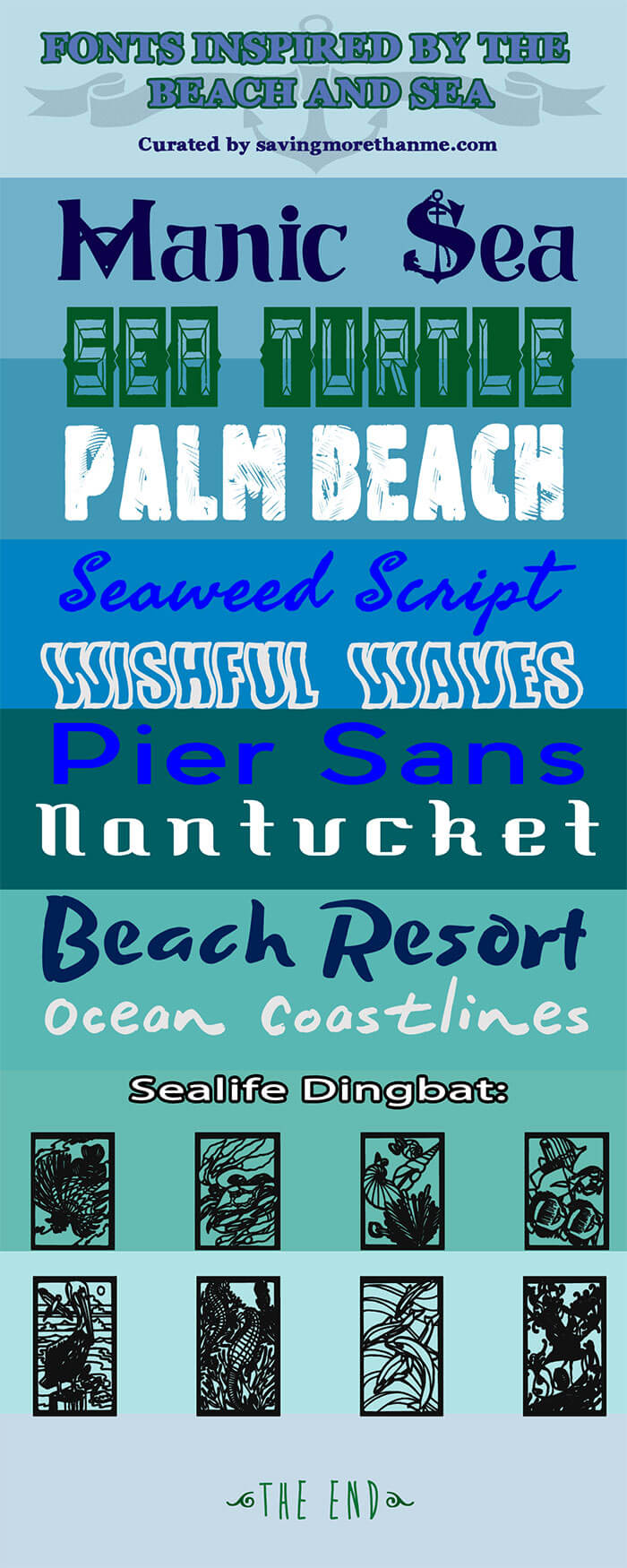 Free Fonts Inspired By The Beach and Sea winterandsparrow.com
