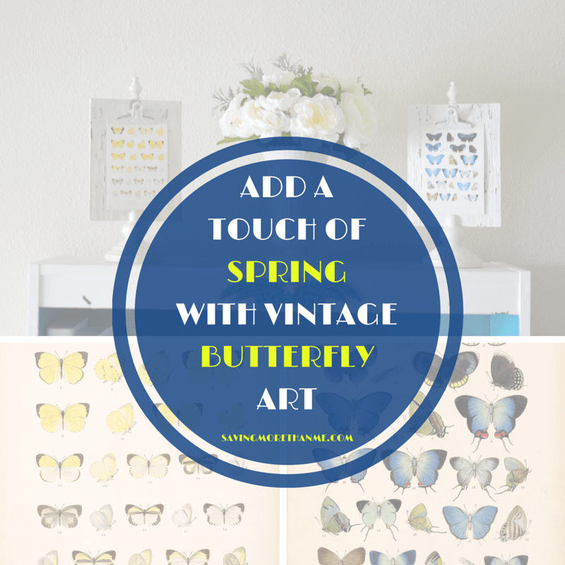 Add A Touch Of Spring With Vintage Butterfly Art