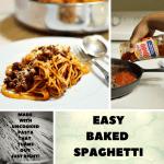Pasta Sauce Recipes:  Easy Baked Spaghetti