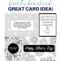 Six Free Fathers Day Coloring Pages (Makes A Great Card Idea!)