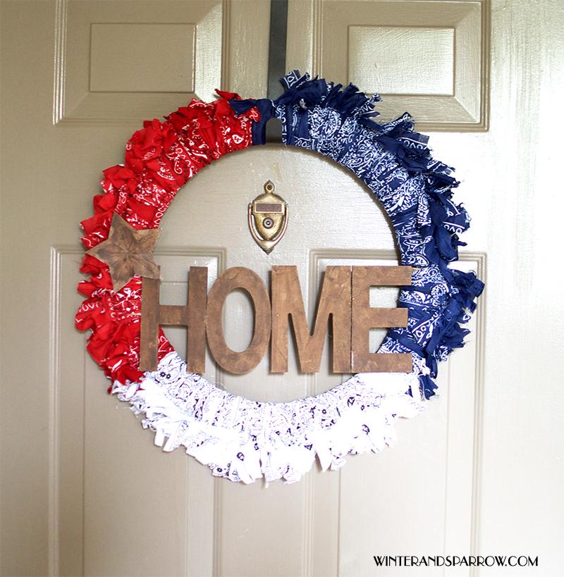 Easy Americana Decor Wreath #DIY