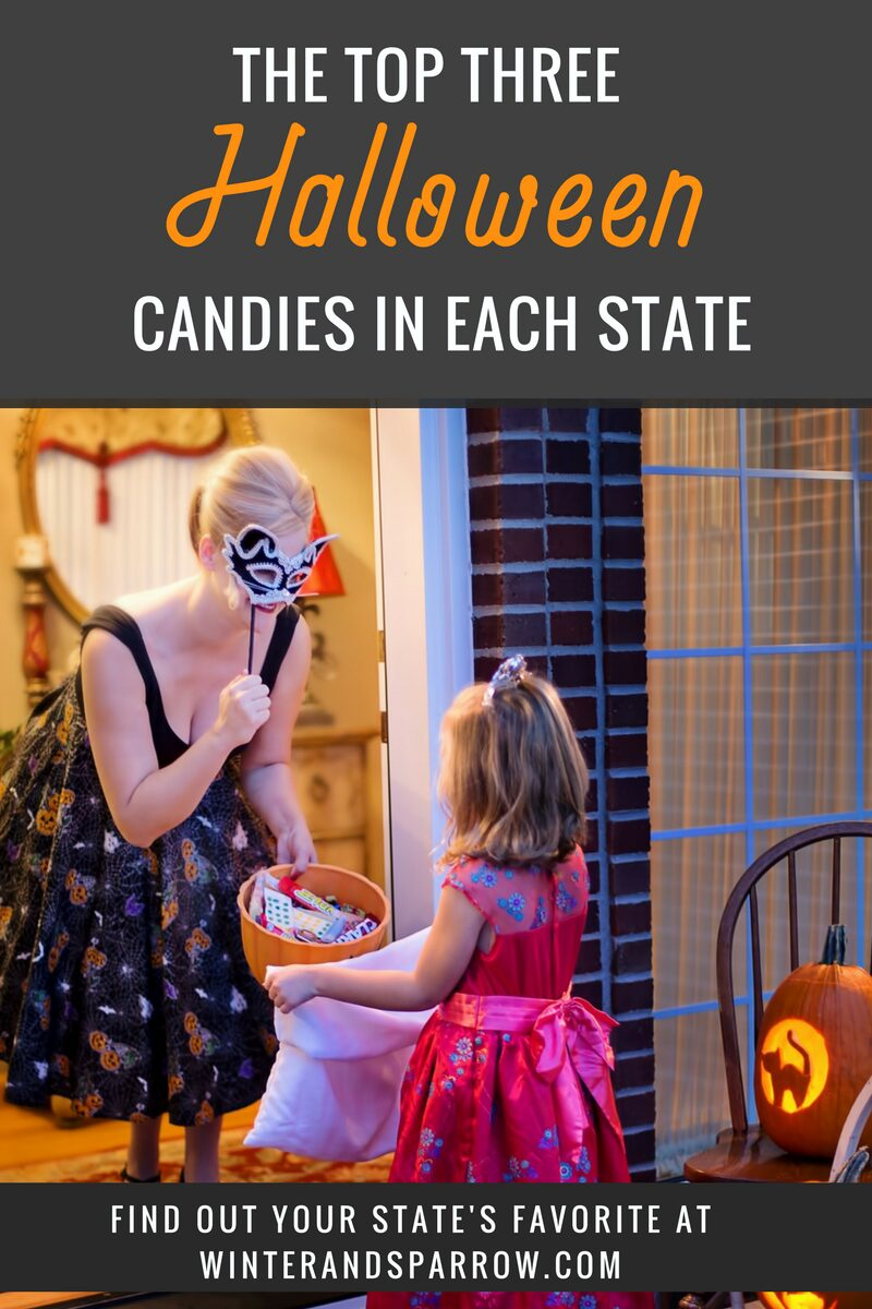 The Top Three Halloween Candies In Your State #halloween winterandsparrow.com