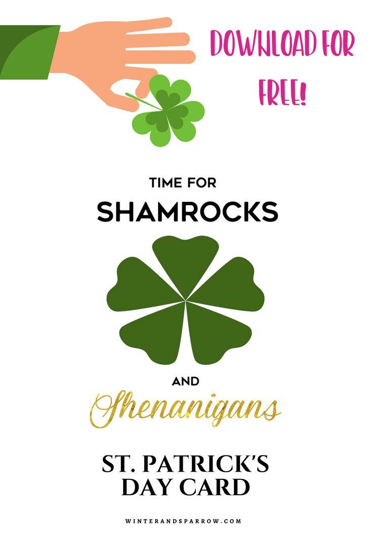St. Patrick's Day Craft: Lucky Shamrock Soap winterandsparrow.com Free Shamrocks and Shenanigans printable.