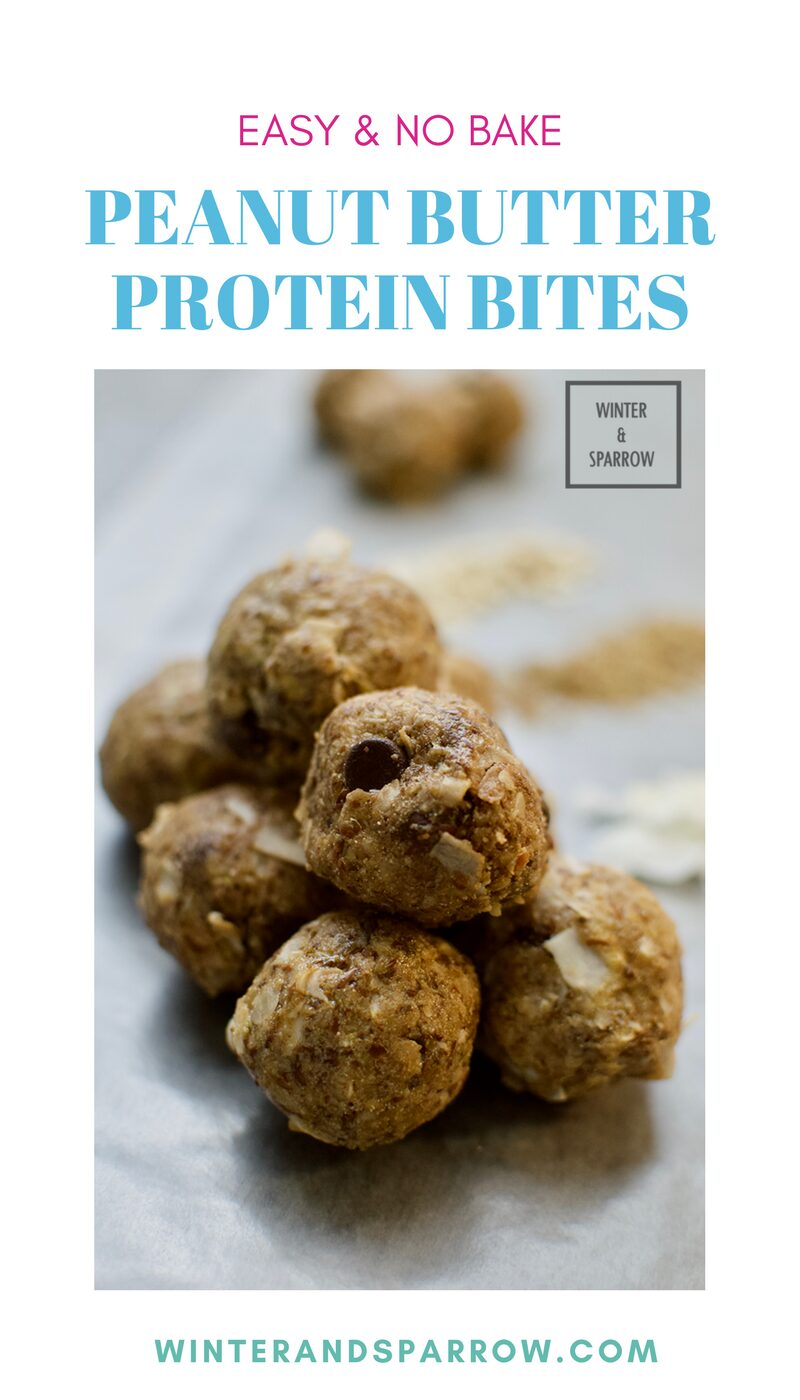 Boost Your Protein Intake With These No Bake Peanut Butter Protein Bites