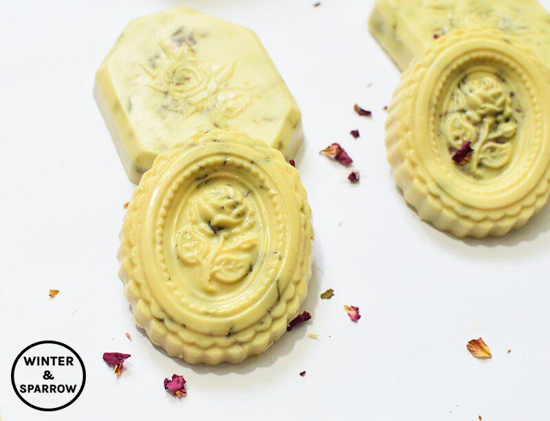 Not Your Grandmother's Rose Petal Soap (DIY Tutorial) + Free Rose Soap Labels | winterandsparrow.com
