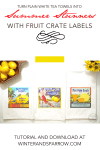 Turn Plain White Tea Towels Into Summer Stunners With Fruit Crate Labels (free download included)