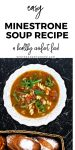 Hearty + Easy Minestrone Soup Recipe