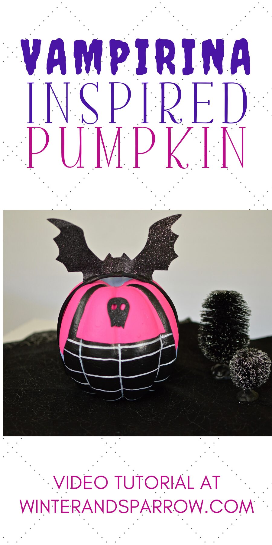 DIY Video Tutorial:  A Batty Vampirina Pumpkin