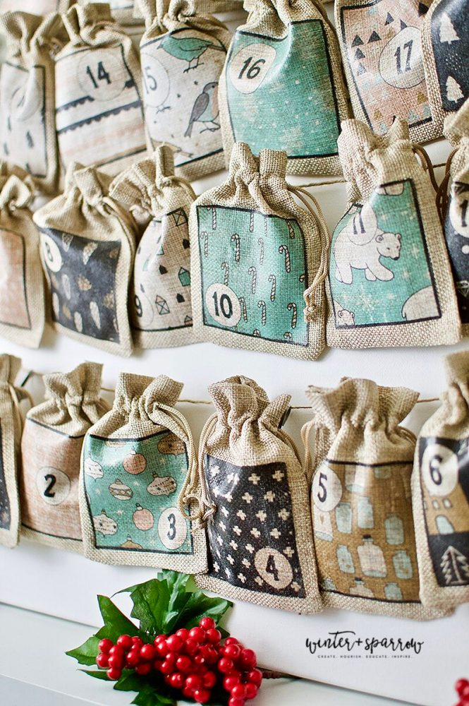 DIY: Farmhouse Advent Calendar + Free Advent Calendar Printables | winterandsparrow.com #adventcalendar #freeadventcalendar #freechristmasprintables
