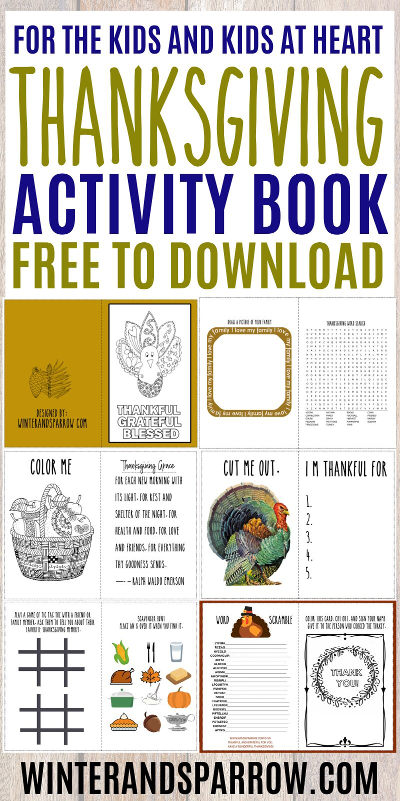 graphic about Printable Thanksgiving Activities referred to as Dont Skip This Thanksgiving Video game E book: 6 Webpages Of