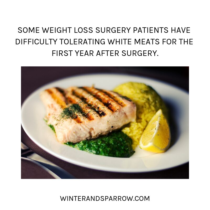 [VIDEO] How To Cope with the Holidays After Weight Loss Surgery [9 Simple Tips] | winterandsparrow.com #gastricsleeve #gastricsleevesurgery #weightlosssurgerytips #holidaysafterweightloss #bariatricsurgery {Picture of pork on a plate with rice and lemon).