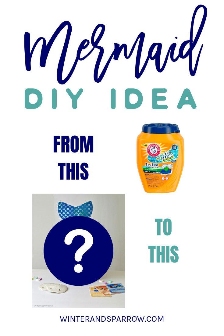Mermaid DIY Idea:  Valentine Card Box or Birthday Party Decor [Video]