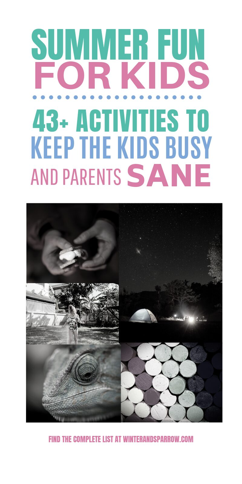 Cheap Summer Fun For Kids: 43 Activities To Keep the Kids Busy (and Parents Sane) | winterandsparrow.com #summerfun #summeractivities #summeractivitiesforkids #cheapsummerfun