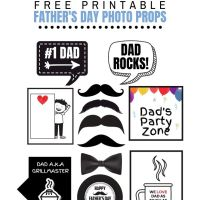 Have Lots of Fun with Free Fathers Day Photo Booth Props