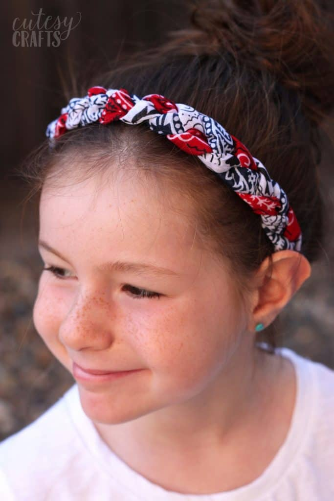 Red, White and Blue Bandana Headbands - DIY Candy