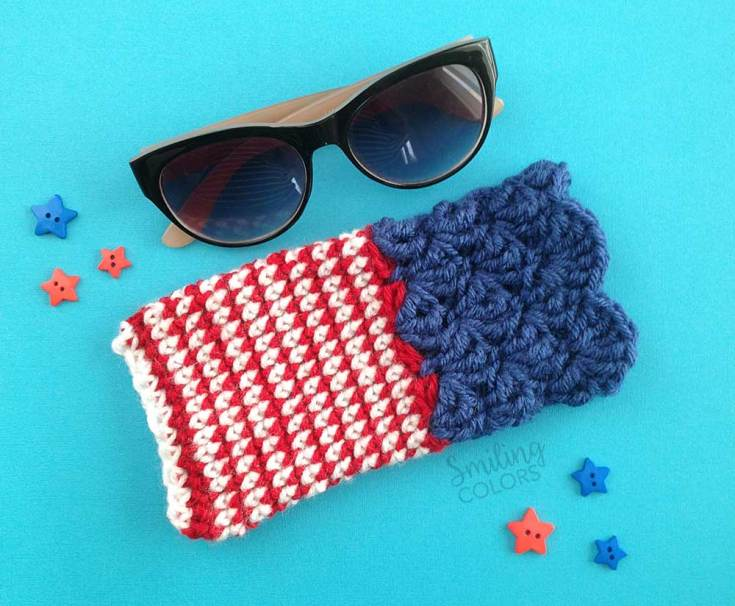 One hour crochet project: Sunglass case with a FREE pattern