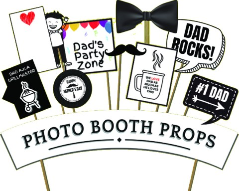 Have Fun and Create Memories with Free Father's Day Photo Booth Props | winterandsparrow.com #fathersdayprintables #fathersdayimages #fathersdayphotobooth #fathersdayideas #fathersdayparty