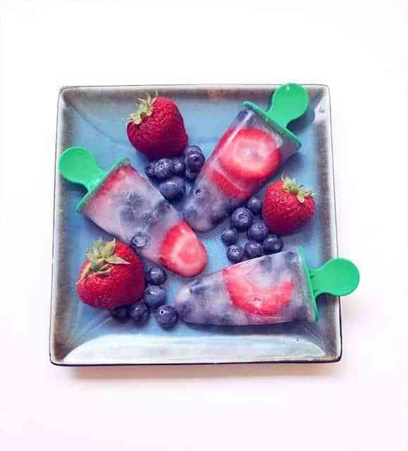 Homemade Fresh Fruit Popsicles