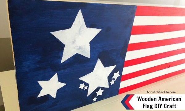 Wooden American Flag DIY Craft