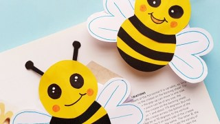 Bumble Bee Bookmark with Printable Template