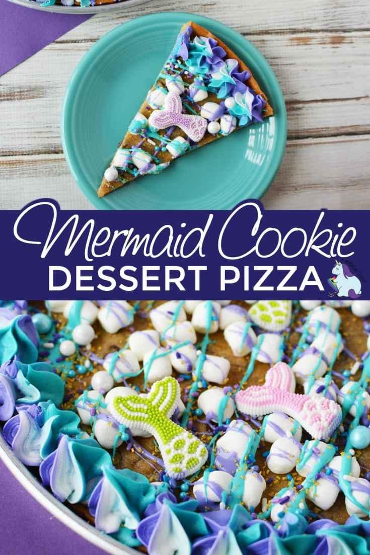 Mermaid Cookie Pizza