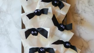 Easy Ribbon Bat Treat Bag Tutorial