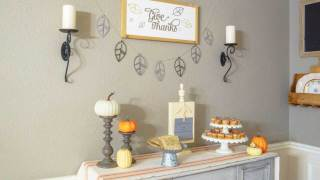 Modern Rustic Thanksgiving Dining Room with a Cricut