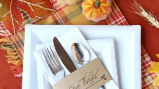 Printable Thanksgiving Napkin Holders