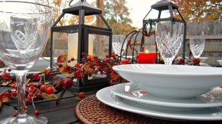 Rustic Outdoor Thanksgiving Tablescape