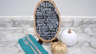 Hand Lettered Farmhouse Style Menu Board