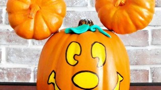 Mickey Mouse Pumpkin - DIY Painted Mickey Jack-o-Lantern