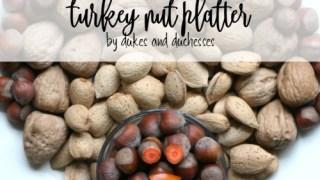 Turkey Nut Platter for Thanksgiving