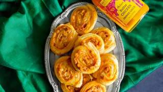 Butter Chicken Pinwheels – Puff Pastry Party Snack #diwalisnacks