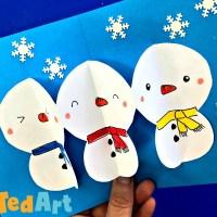 Paper Chain Pop Up Snowman Card