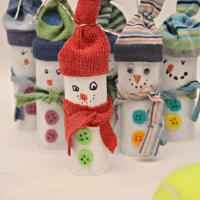 Toilet Roll Snowman - Red Ted Art