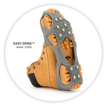 easy spike ice cleats by winter walking