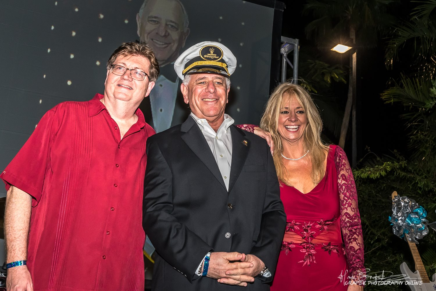 2017 Commodore Ken Ortner with Ben Wesley and President/CEO Lisa Scott-Founds