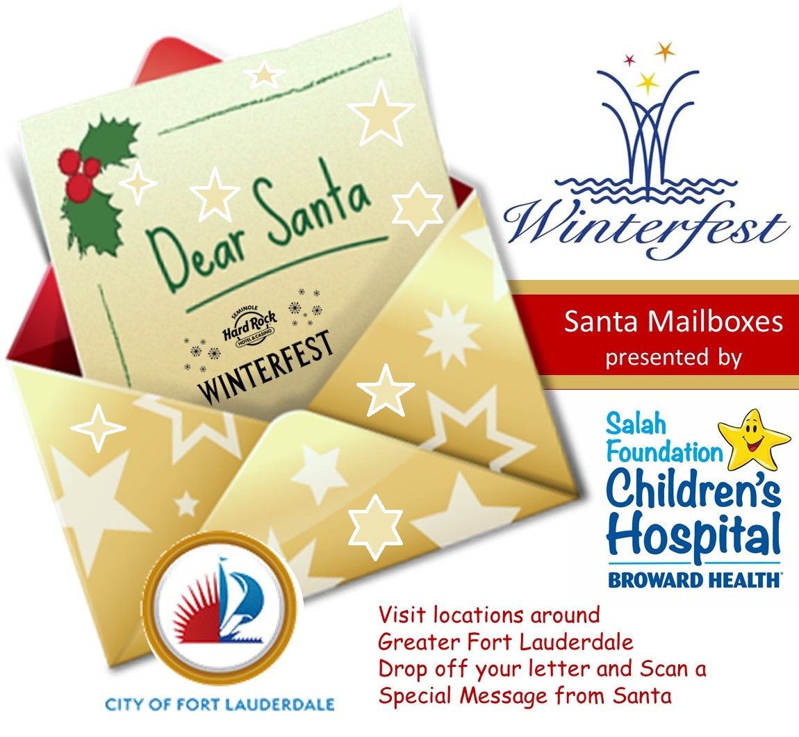 Poster for the Winterfest Santa Mailboxes Holiday Post