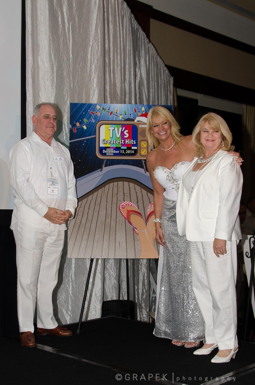 Chairman Ken Ortner, President/CEO Lisa Scott-Founds and Poster Artist Nadine Floyd
