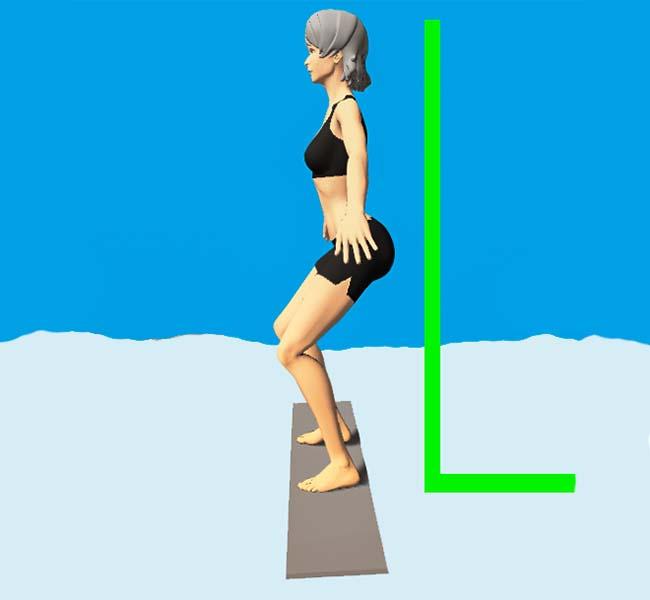 Pozycja na desce snowboardowej - bok