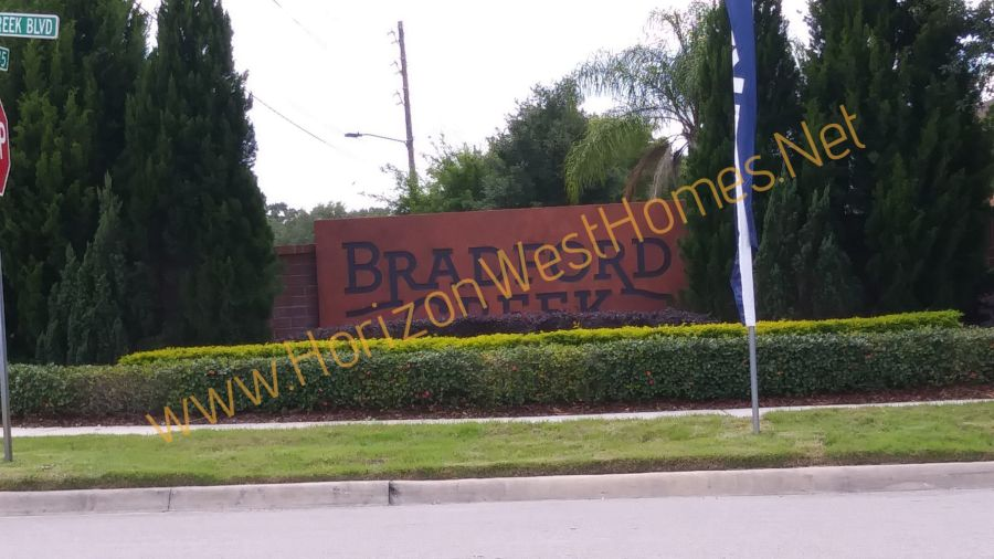 Bradford creek homes for sale Gated Community Winter Garden Florida entrance sign