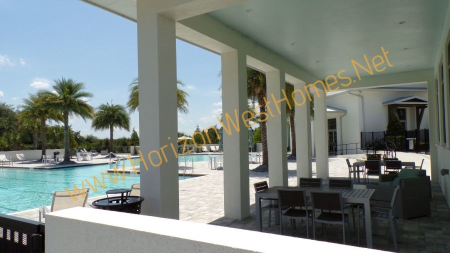 Waterside Pool Clubhouse Sitting Area Winter Garden Florid