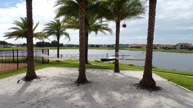 Lakeshore Winter Garden Florida Boat Dock.  Toll Brothers.  Homes and townhomes for sale