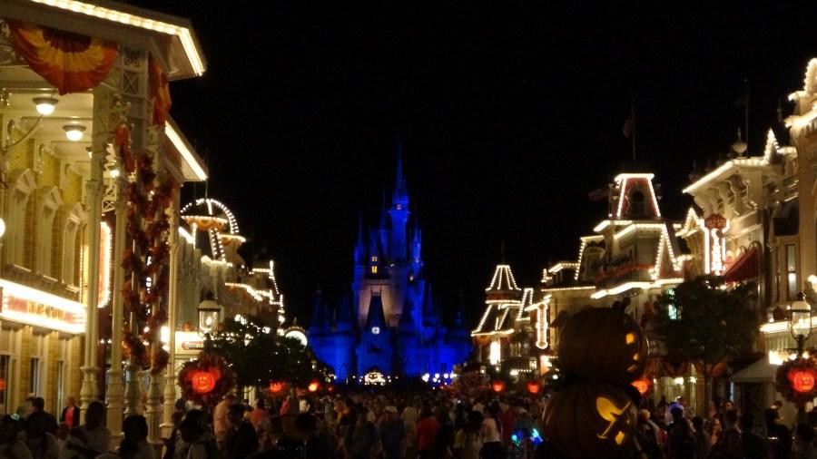 The magic kingdom halloween main street.