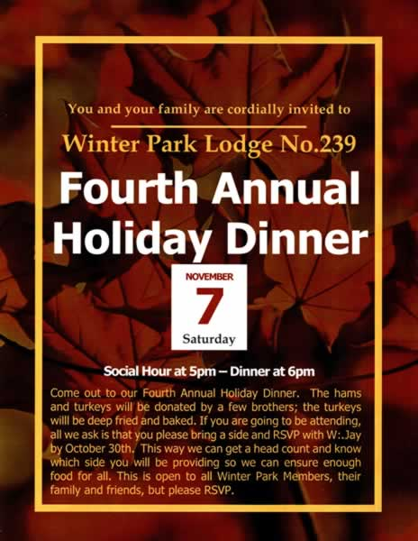 Fourth Annual Holiday Dinner