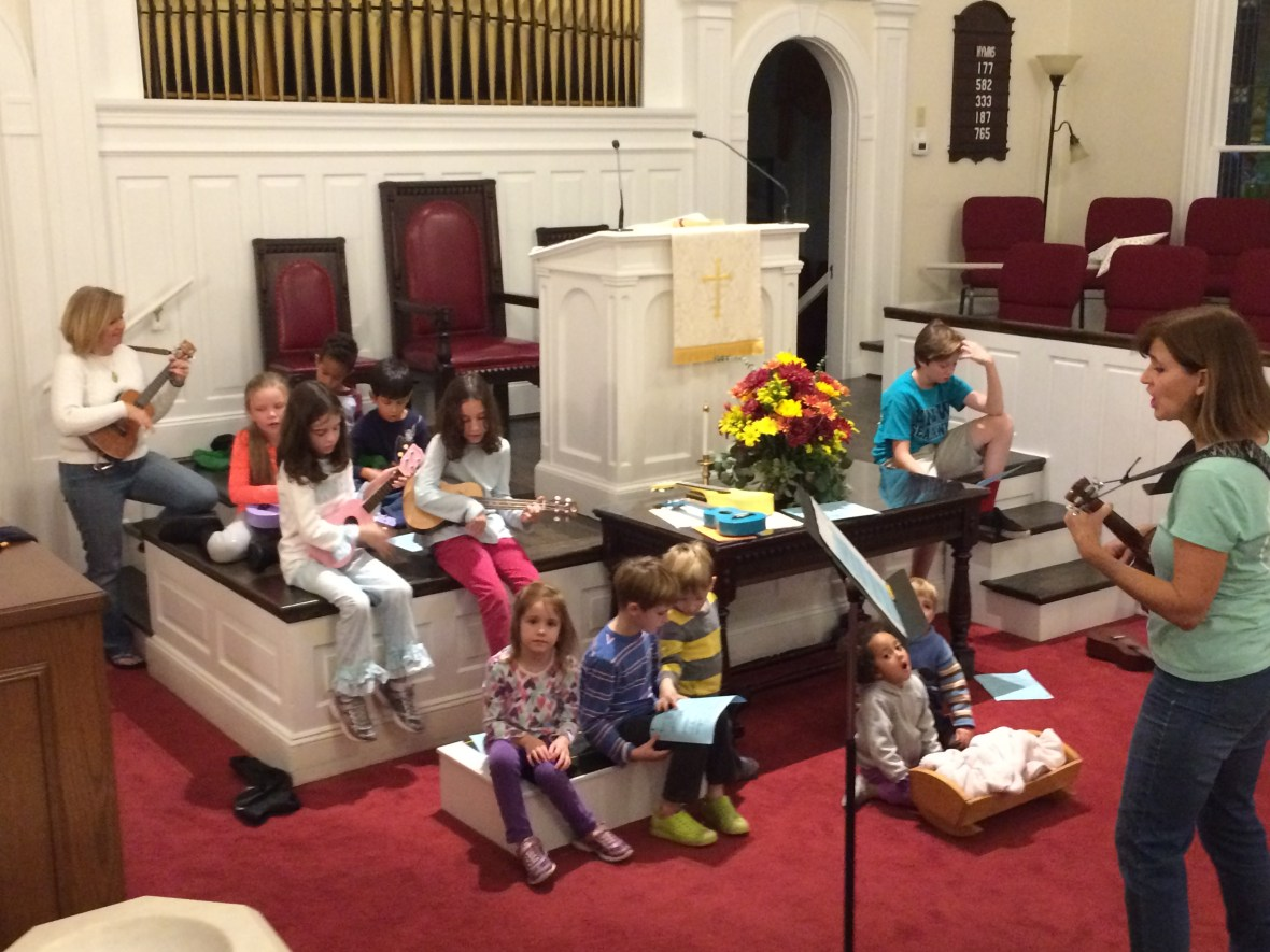 Our Children practicing one of the songs for Joy Gift 2017!