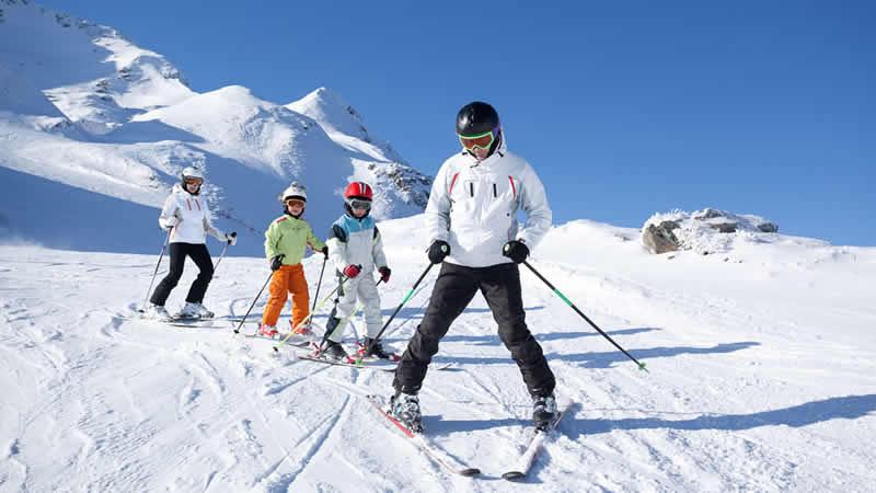 Wintersport met het hele gezin
