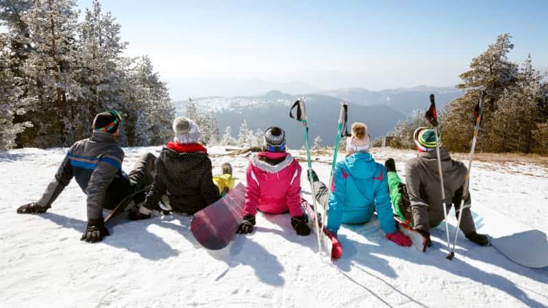 Wintersport met een groep