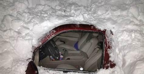 Gered uit de sneeuw in New Mexico